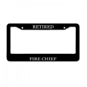Retired Fire Chief Plate Cover